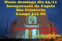 Inauguração da Igreja São Cristóvão terá transmissão ao vivo pela CRNC TV