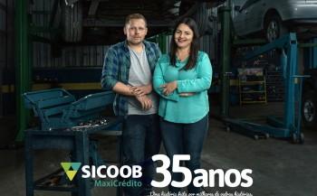 Sicoob MaxiCrédito lança campanha de 35 anos