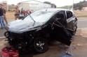 Colisão frontal deixa 4 pessoas feridas na BR 280 em Flor da Serra do Sul