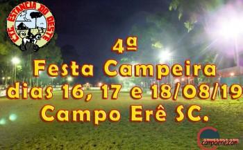 Começa hoje a 4ª Festa Campeira de Campo Erê