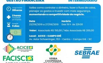 Curso de gestão empresarial será promovido pela ACICE