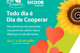 Sicoob MaxiCrédito apoia campanha do Dia C de arrecadação de alimentos