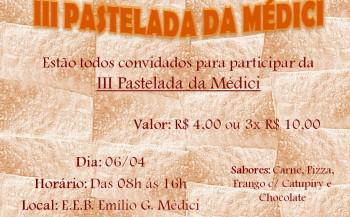 III Pastelada da Médici será neste sábado