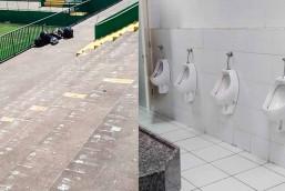 Torcedores Chilenos recolhem lixo e limpam banheiros na Arena em Chapeco